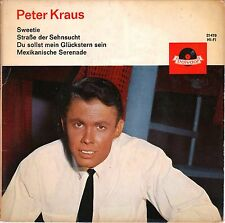 "7"" Peter Kraus – EP: Sweetie + 3 Songs // Germany 1962"