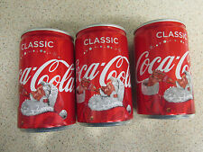 Coca Cola Cans x3 (Empty) COCA COLA CHRISTMAS TRUCK TOUR UK 150ml COLLECTABLES