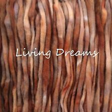 SPINNING FELTING Living Dreams PENCIL ROVING WOOL TOP FIBER hand dyed CHESTNUT