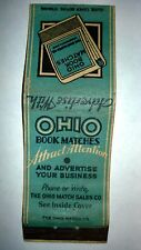 "RARE OLD Vintage ""OHIO BOOK MATCHES""ATTRACT ATTENTION. matchbook.MADE IN USA"