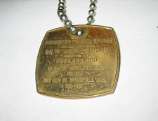 Vintage Worchester Federal Savings Mass. 85th ANNIVERSARY KEYCHAIN FOB MEDAL