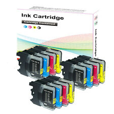12  LC985 Ink Cartridges for  Brother DCP J125 J315W J515W