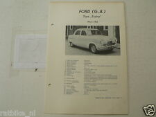 FO31A-FORD UK TYPE ZEPHYR 1953-1955,TECHNICAL INFO CAR CLASSIC CAR OLDTIMER