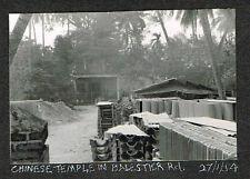 OLD PHOTO CHINESE TEMPLE BALESTIER ROAD SINGAPORE MALAYA VINTAGE 1954  (541)