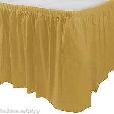14ft Plastic GOLD Table Skirt wedding party