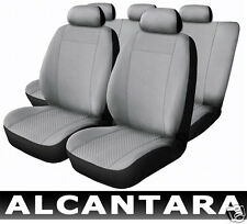 Seat Covers Leather Alcantara Grey compatible with CITROEN SAXO