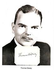 Thomas E Dewey Autograph Governor New York District Attorney Owosso Michigan #3