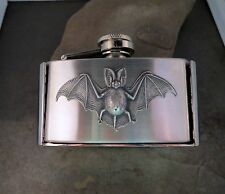 Handmade Stainless Steel Bat Flask Belt Buckle