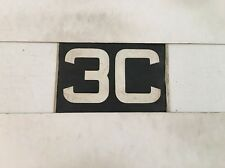 "3c Vintage Kelbus Linen Bus Destination Blind Number 1940's- 10 1/2"" Wide"