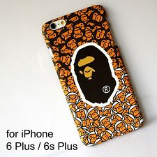 AAPE by Bape Glow in Dark Brown Hard Back Cover Case for iPhone 6 Plus /6s Plus