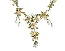 Orange Blossom Shower Drop Necklace by Michael Michaud #8206