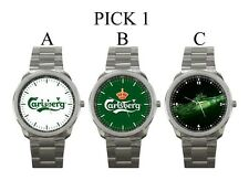 Carlsberg Beer Logo Sport Metal Watch #PICK 1