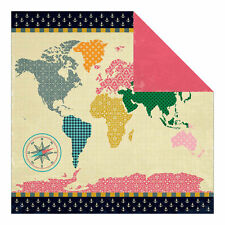 """Fancy Pants As You Wish """"World Travel's"""" 12x12 Paper 2pc"""