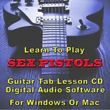 SEX PISTOLS Guitar Tab Lesson CD Software - 20 Songs