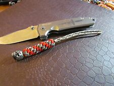 550 paracord Knife Lanyard Pewter Emerson Skull fits xm-18 zt 0551, sng, red