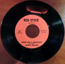 Ultra Rare Marty Collins Red Stick 19756 45rpm Recipe For A Heartache Pictures