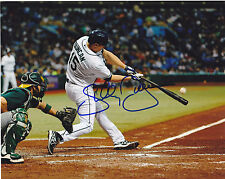 SHELLEY DUNCAN  TAMPA RAYS    ACTION SIGNED 8x10