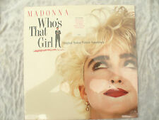 MADONNA WHO'S THAT GIRL LP MOTION PICTURE SOUNDTRACK Original sealed & NEW !!