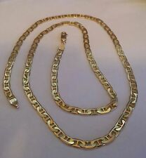 "Vintage14K Solid Gold Fancy ANCHOR LINK CHAIN  Necklace 24"" Made In ITALY((67))"