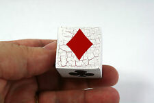 Vintage Style Trump Marker/Indicator for Pinochle, Bridge or Euchre-Crackle Wood