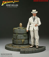 SIDESHOW INDIANA JONES DR. RENE BELLOQ 1:6 SCALE FIGURE EXCLUSIVE ~BRAND NEW~