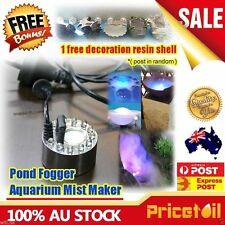 AU LED Ultrasonic Mist Maker Fogger Fountain Pond Atomizer Humidifier Aquarium