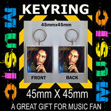 LEGEND BOB MARLEY- - CD COVER KEYRING- 45X45mm KEY CHAIN