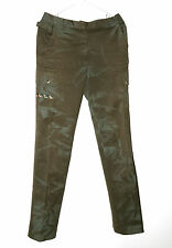 AUTHENTIC DOLCE & GABANA WOMENS MILITARY CARGO PANTS. GREEN. SZ 40. PAINTED.