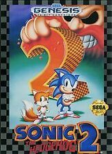 SONIC THE HEDGEHOG 2 TWO SEGA GENESIS GAME CARTRIDGE ONLY SYSTEM NES HQ