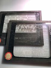 Lot Of 2 Vtg Magic Lantern Glass Slide Photo Japs Caught Taking Photos WWII Era