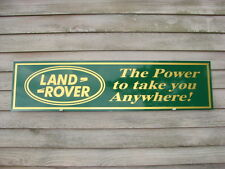 NEW!! LAND ROVER METAL DEALER 1'X4' METAL SIGN W/LOGO & TAGLINE-GARAGE ART