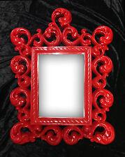Miroir mural Cadre Photo Rouge 64X54 cm Antique Baroque en exclusivité Ornement