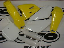 UFO 6 PIECE MOTOCROSS PLASTIC KIT SUZUKI RM 85 RESTYLED 00 - ON STD SUKIT405EK