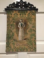 Willow Tree Pineapple Welcome Angel Tapestry Bannerette Wall Hanging