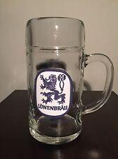 """Lowenbrau Beer Stein Mug Cup Munchen 1L Vtg 7.75"""" Large Munich Germany bier"""