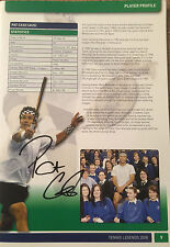 A4 Signed by Pat Cash Tennis Legends Programme 2008