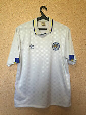 RARE LEEDS UNITED ENGLAND 1988/1989/1990 HOME FOOTBALL SHIRT JERSEY MAGLIA UMBRO