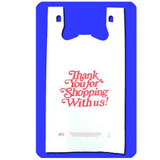 White - Large Size- Thank You For Shopping With Us! Carry Out Bags -  500 Pcs
