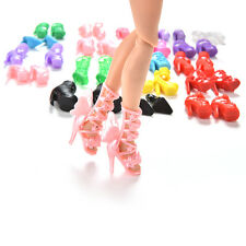 Funny 40 Pcs/20 Pair Slap-up Fashion High-Heeled Shoes For Barbie Dolls