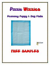 "150ct 30x30"" Pizzie Wizzies Economy Puppy-Piddle-Pee Wee Dog Pads FREE SAMPLES"