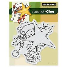 PENNY BLACK RUBBER STAMPS SLAPSTICK CLING LITTLE ELF KIT STAMP
