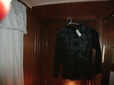 Timberland t-shirt long sleeve black with T B  L raised stiching size LargeTall