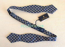 New Polo Ralph Lauren Silk Bow Tie Italy Navy