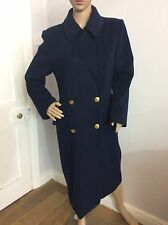 CHRISTIAN DIOR VINTAGE Size 10-12, wool Coat. NAVY blue, IMMACULATE, RRP £2,800