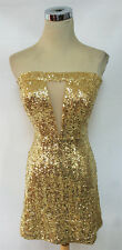 NWT WINDSOR $83 Gold Cocktail Dance Prom Party Dress 13