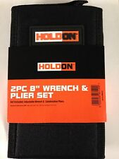 """Holdon 2 Pack 8"""" Wrench and Plier Set with case"""