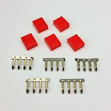 PK OF 5 - FEMALE 4 PIN FAN POWER CONNECTOR - RED INC PINS