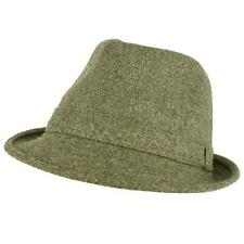 Men's Winter Classic Wool Solid Fedora Trilby Gangster Mob Cap Hat Gray S/M
