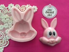 Easter Rabbit Bunny Silicone Mold Food Safe Cake Decoration Candy Cupcake (FDA)