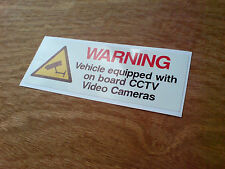 VEHICLE ON BOARD CCTV Dash Cam Video Camera Van Truck Car Sticker 1 off 130mm